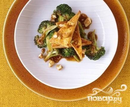 Жаркое из брокколи с тофу