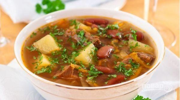 Как сварить суп из фасоли с мясом