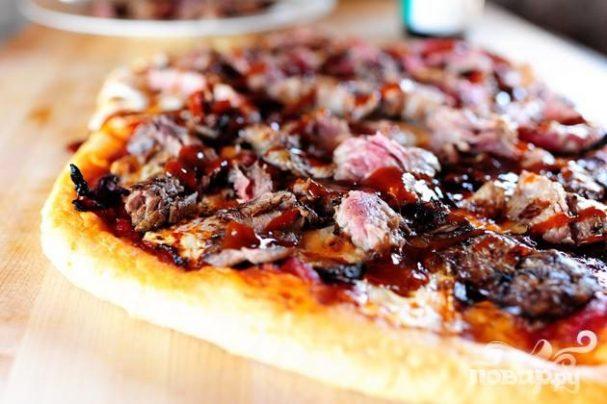 Пицца со стейком