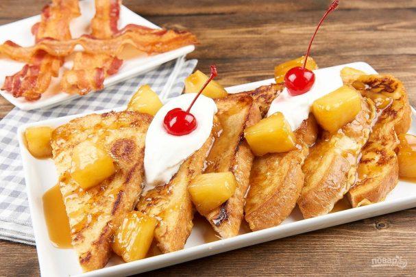 Тосты с ананасом