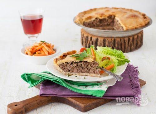 Пирог с мясным фаршем