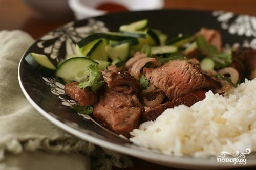 Тайский салат из говядины