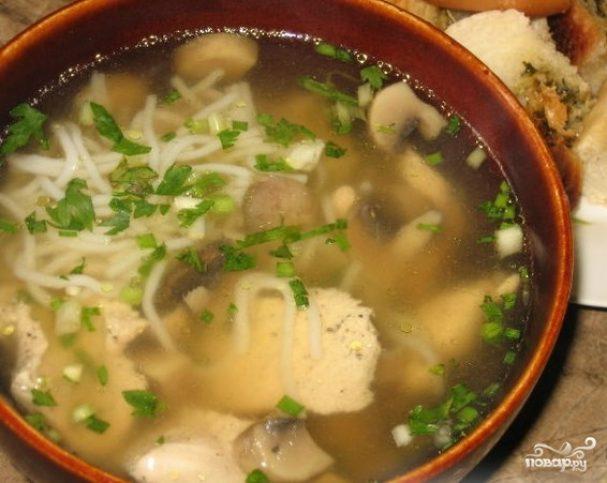 Китайский суп с курицей