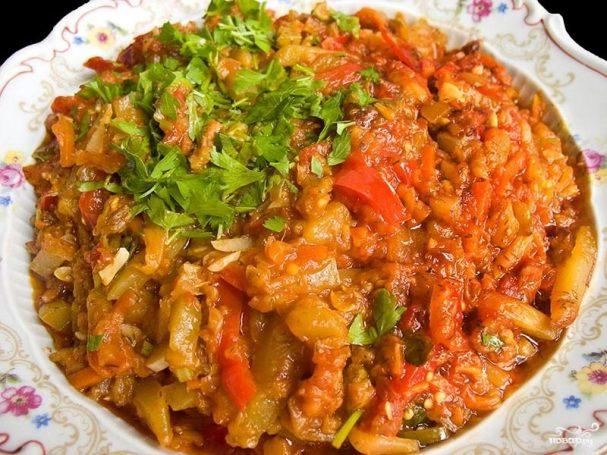Рагу овощное с болгарским перцем