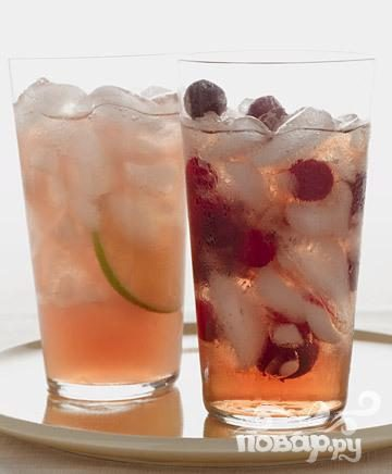 Клюквенно-грейпфрутовый коктейль