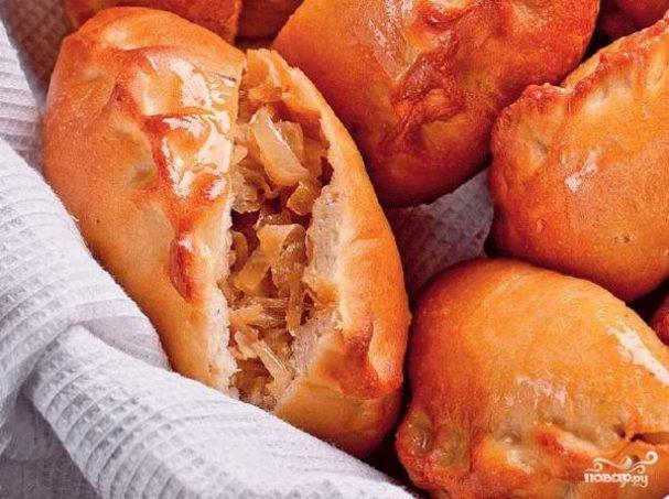 Пирожки с капустой в духовке - пошаговый рецепт с фото на Повар.ру