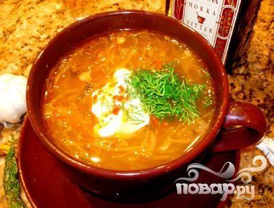 Суп с кислой капустой рецепт