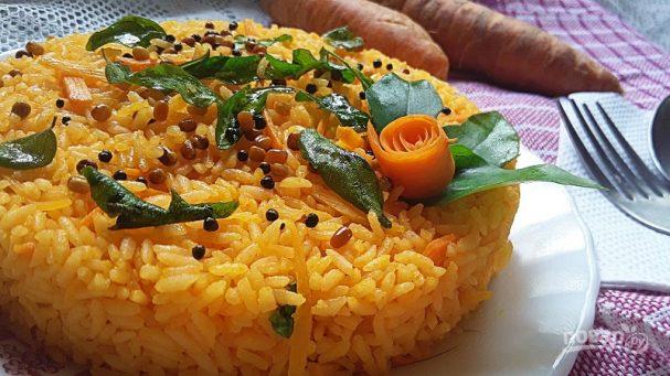 Рис с морковным соком