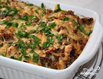 Картофельная запеканка с куриным фаршем