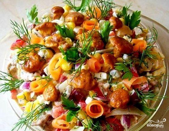 рецепт рыжики под шубой салат