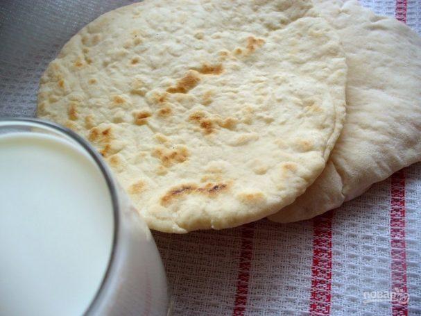 Лепешка пита без дрожжей (простой рецепт)