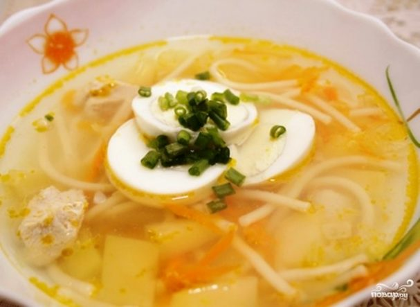 Куриный суп классический