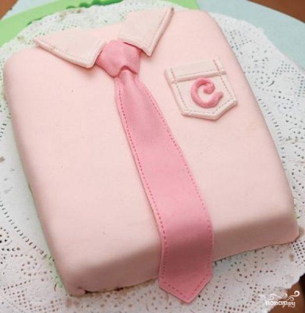 """Торт """"Рубашка с галстуком"""""""