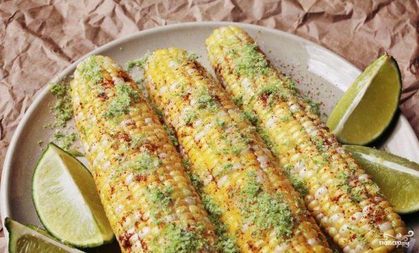Запеченная кукуруза (на углях)