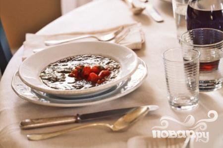 Суп с баклажанами и красным перцем