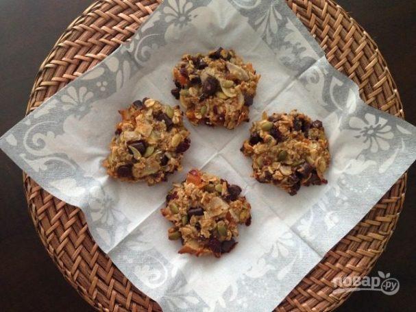 Печенье из фруктов, орехов и семечек