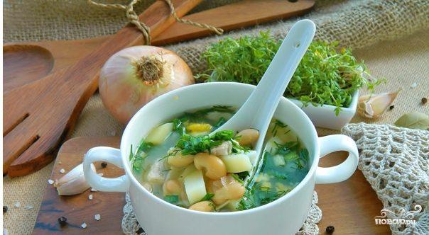 Куриный суп с фасолью консервированной