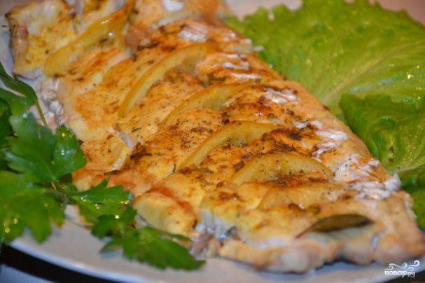 Толстолобик запеченный в фольге с картофелем, рецепт 73