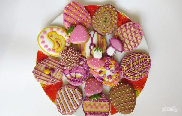 Печенье расписное своими руками
