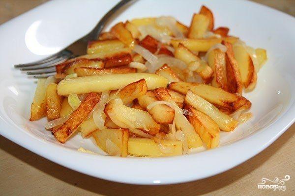 Жареная картошка с поджаркой