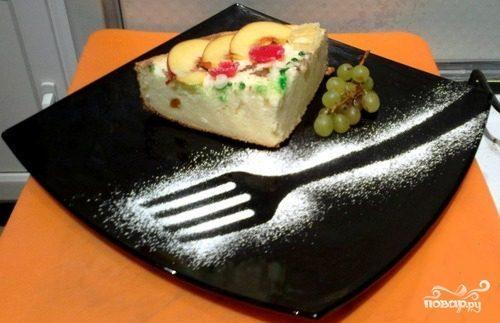 Творожно-манный пирог в духовке