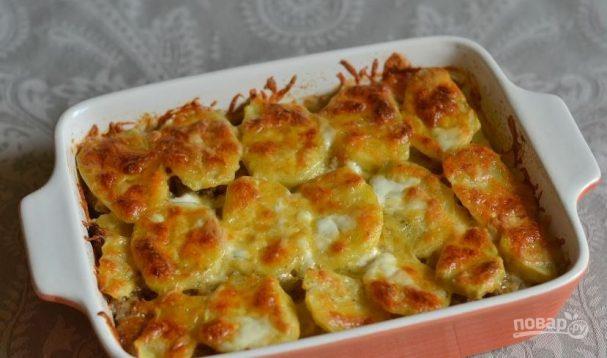 Жаркое из фарша и картофеля