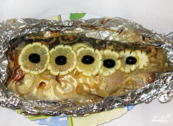 Форель с лимоном в фольге