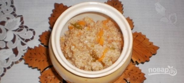 Пшеничная крупа в духовке