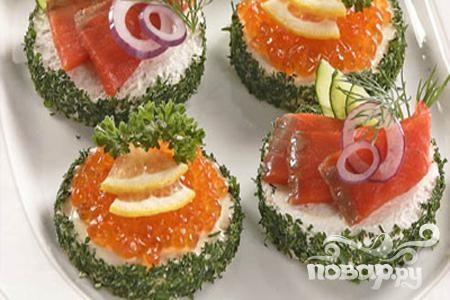 Бутерброды с икрой и рыбой