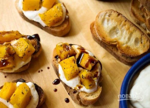 Закуска из тыквы с сыром