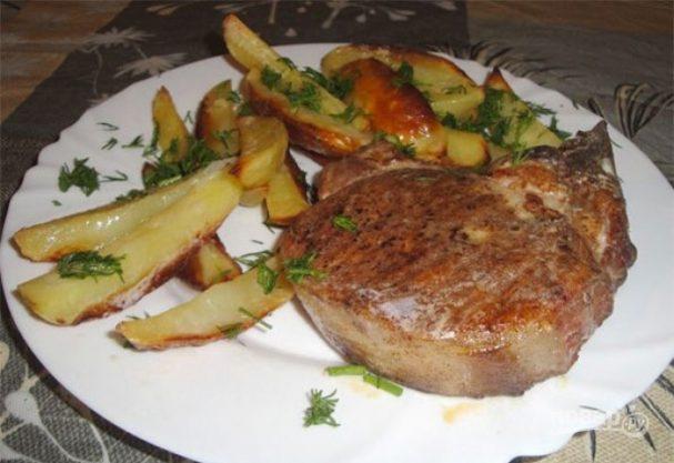Бифштекс из свинины в духовке