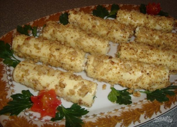 Сырные трубочки с острой начинкой