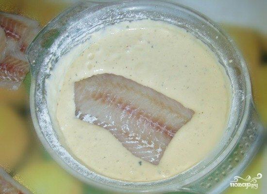 Кляр для рыбы с майонезом