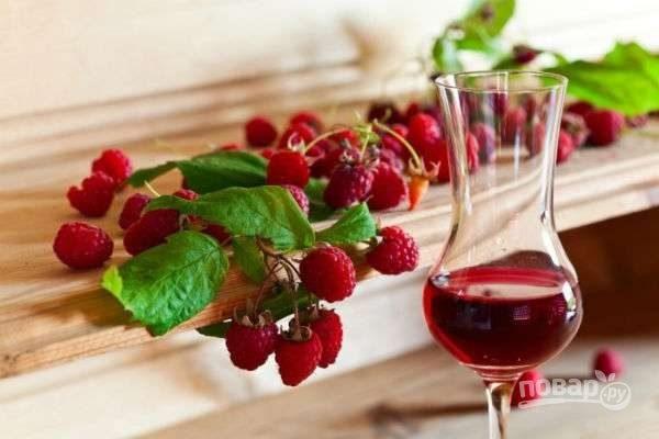 Рецепт малинового вина