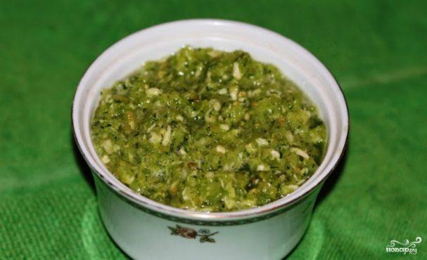 зеленая аджика с зеленых помидоров рецепт