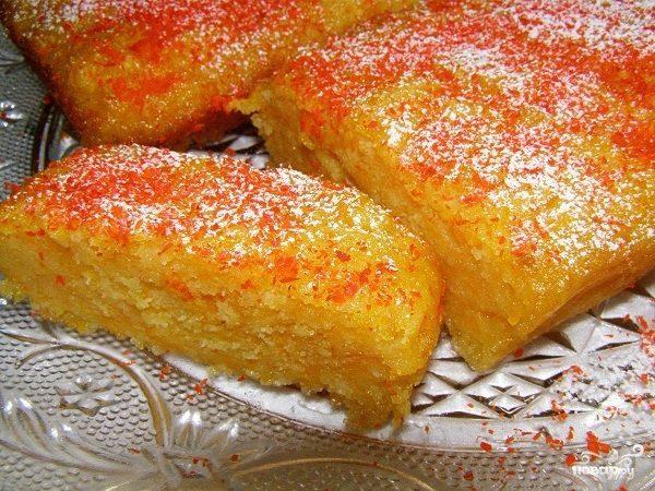 Быстрый сладкий пирог на кефире с тыквой