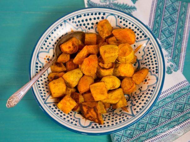 Запечённый сладкий картофель