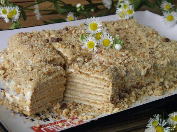 Тортик без выпечки из печенья