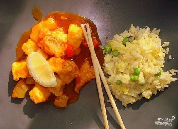 Рыба по-китайски в кисло-сладком соусе
