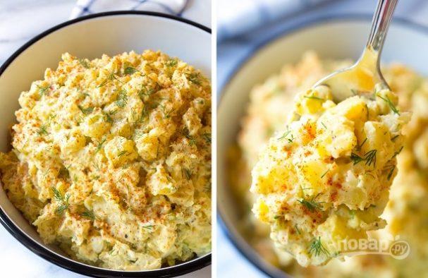 Картофельно-яичный салат