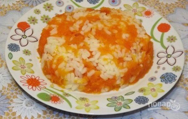 Рисовая каша с тыквой на воде
