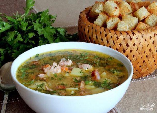 рецепт горохового супа с копченой курицей