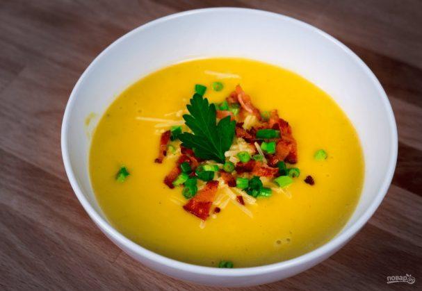 Пряный суп-пюре из тыквы