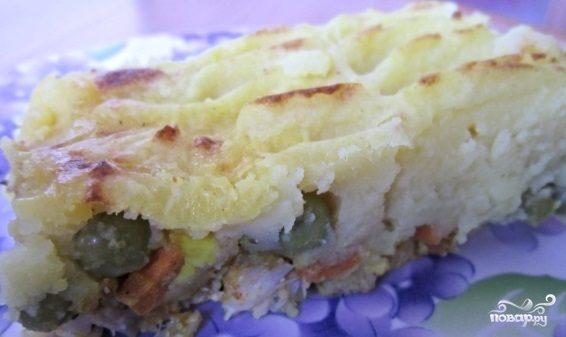 Рыба в картофельном пюре