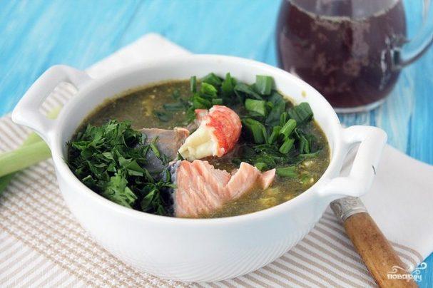Ботвинья традиционная с рыбой