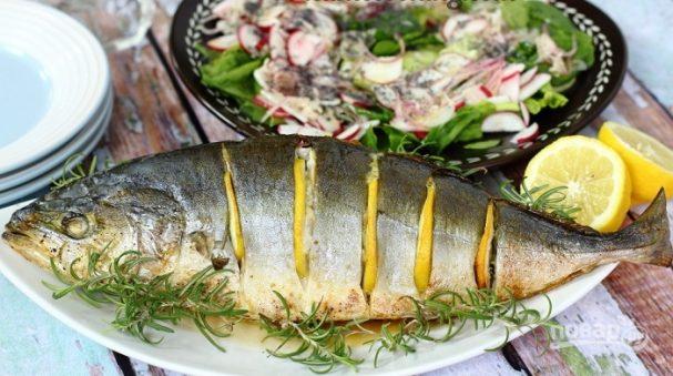 Желтохвостый тунец в духовке
