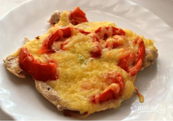 куриная грудка с перцем болгарским и помидорами