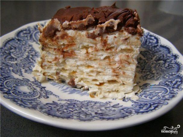 Торт из мацы без выпечки