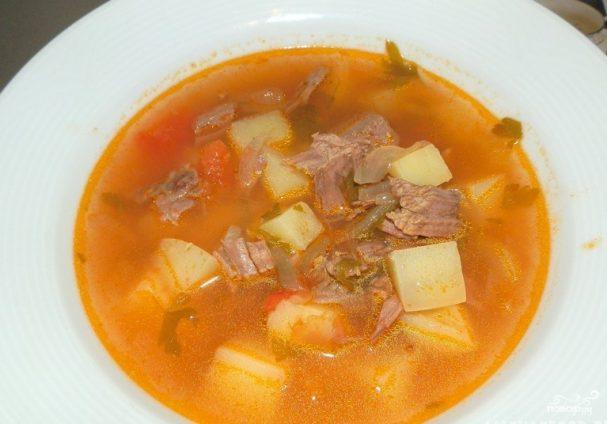 Картофельный суп с мясом рецепт с фото пошагово