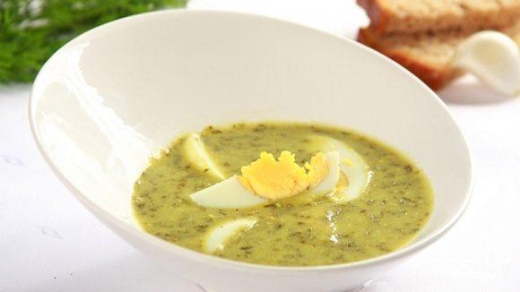 Суп щавелевый с мясом